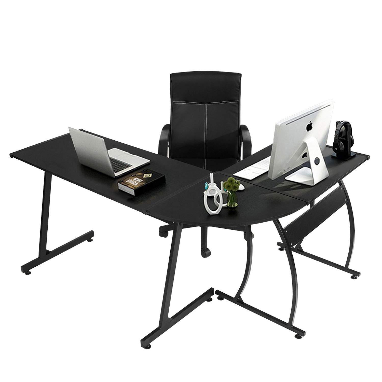 Details about l shape corner computer office desk pc laptop table workstation home office game