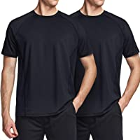 ATHLIO Men's (Pack of 2, 3) Workout Running Shirts, Sun Protection Quick Dry Athletic Shirts, Short Sleeve Gym T-Shirts