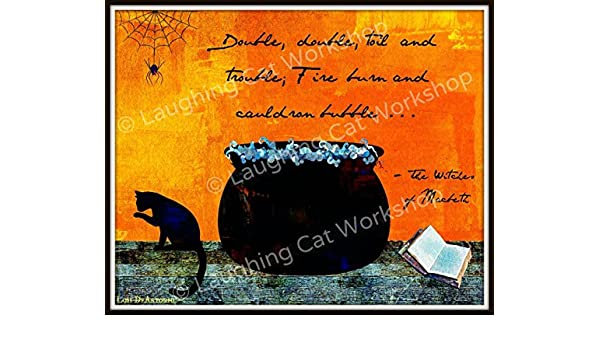 Amazon Shakespeare Witches Of Macbeth Art Halloween Decor
