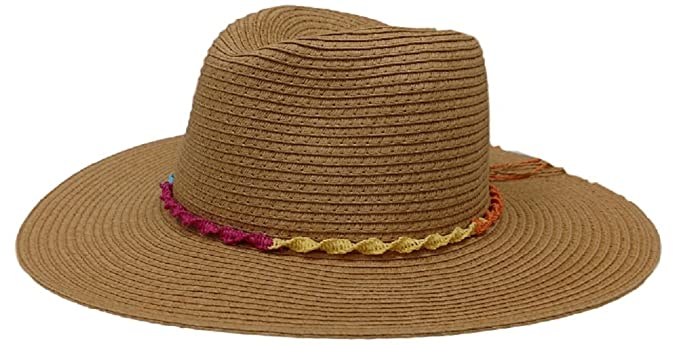 3a4b2567375 Amazon.com  Panama Jack Women s Paper Braid Safari Hat (Toast)  Home ...