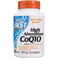 Doctor's Best High Absorption CoQ10 with BioPerine, 100mg, 60ct
