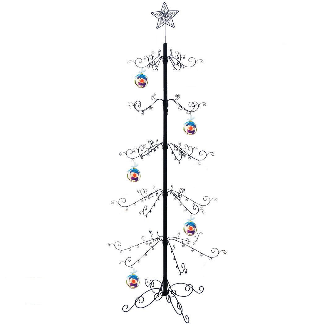 HOHIYA Metal Christmas Ornament Display Tree Stand 84inch(Black) by HOHIYA
