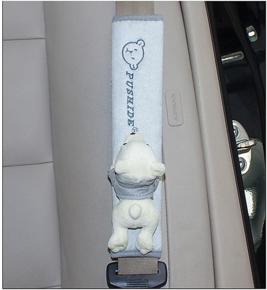 Frenshion 1 Pair Komfortable Schulter Auto-Sicherheitsgurt-Kissen Seat Belt Covers Beige