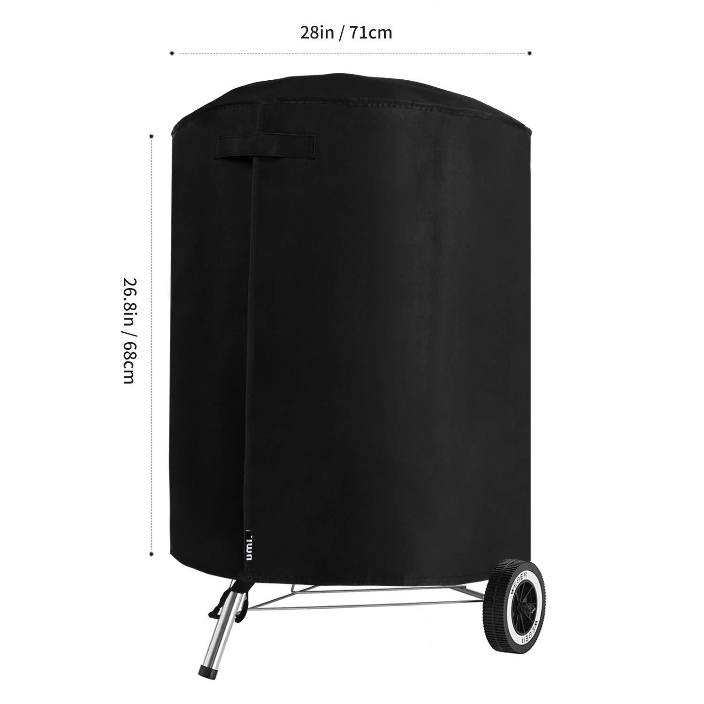 UMI Noir 71 x 68 cm Essentials Bouilloire pour Barbecue Heavy Duty /étanche Respirant Tissu Oxford Housse Ronde pour Barbecue