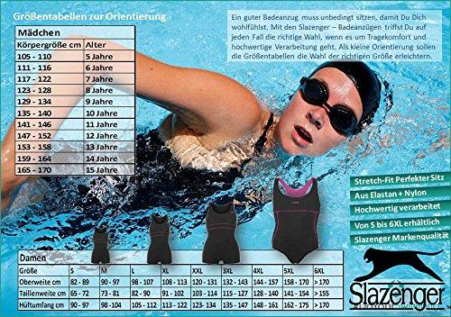 Slazenger Tankini/Bañador en diferentes colores (Negro/Rosa y navyblue/turquesa) y tamaños de S M L XL XXL XXXL hasta XXXXL - Tankini dunkelblau/türkis