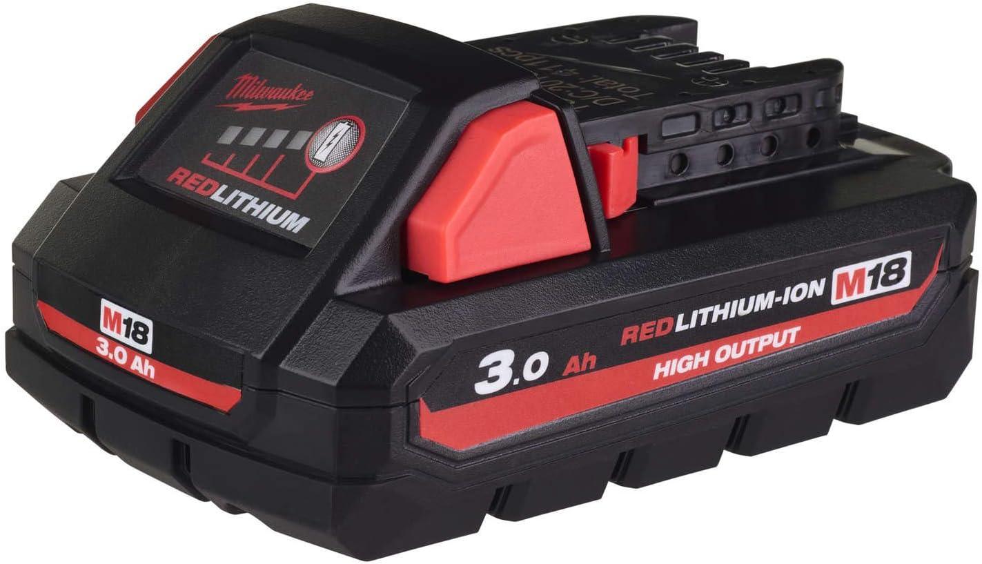 Bater/ía MILWAUKEE M18 HB3 RedLithium-Ion 18V 3.0Ah 4932471069