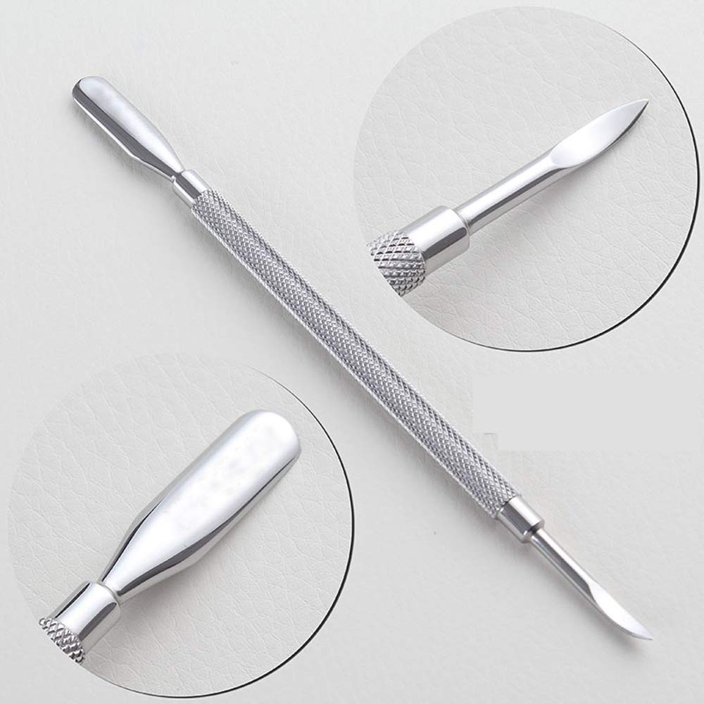 Cuticle Pusher and Cutter Set, BEBEEPOO 3pcs Nail Polish Remover Manicure Cuticle Tools Professional Stainless Steel Triangle Metal Cuticle Remover Peeler Scraper for Fingernails(Silver): Beauty