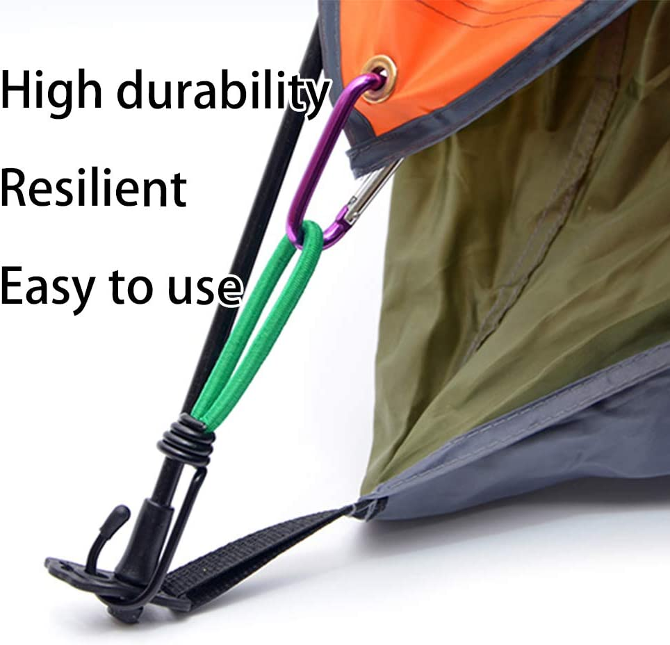 OMUKY Outdoor Tent Hook Elastic Rope Buckle Canopy Fixed Draw Rope Multifunctional Camping Tent Stakes
