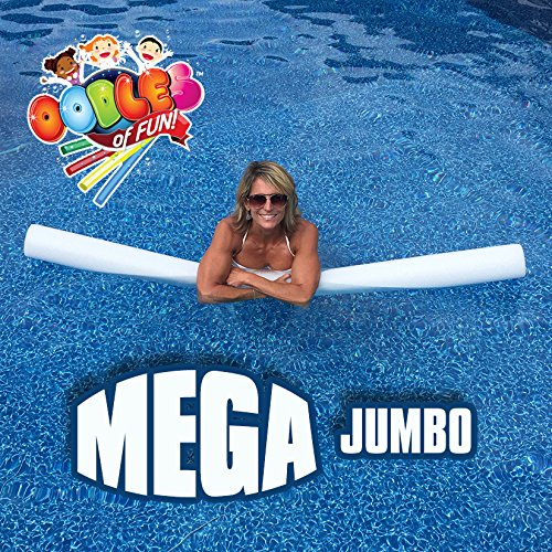 Oodles of Noodles MEGA Jumbo Approx 6 Foot x 5 Inch Biggest Pool Noodle Ever Multi-Purpose White by Oodles of Noodles