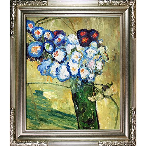 - overstockArt Glass with Carnations, 1890 by Van Gogh Hand Painted Oil on Canvas with Florentine Dark Champagne Frame