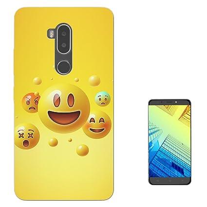 Amazon 003585 Funny Smiley Faces Emojis Design Alcatel A7 Xl