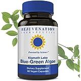 Rejuvenation Therapeutics - Klamath Blue-Green Algae   More Powerful Than SPIRULINA Or Chlorella   Grown from The Clean Pure Source of Klamath Lake   500 MG 60CT Vegan Capsules