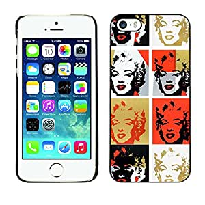 MOBMART Carcasa Funda Case Cover Armor Shell PARA Apple iPhone 5 / 5S - Marilyn Monroe In Different Colored Faces