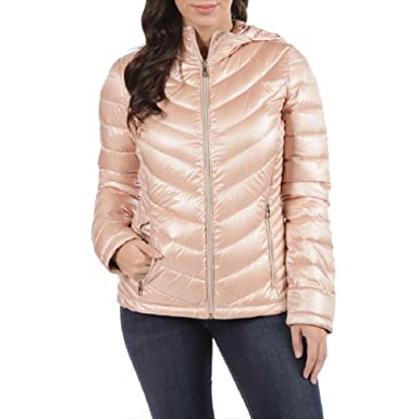 6003d531b76 Calvin Klein Women's Petite Packable Down Filled Hooded Jacket (PM ...