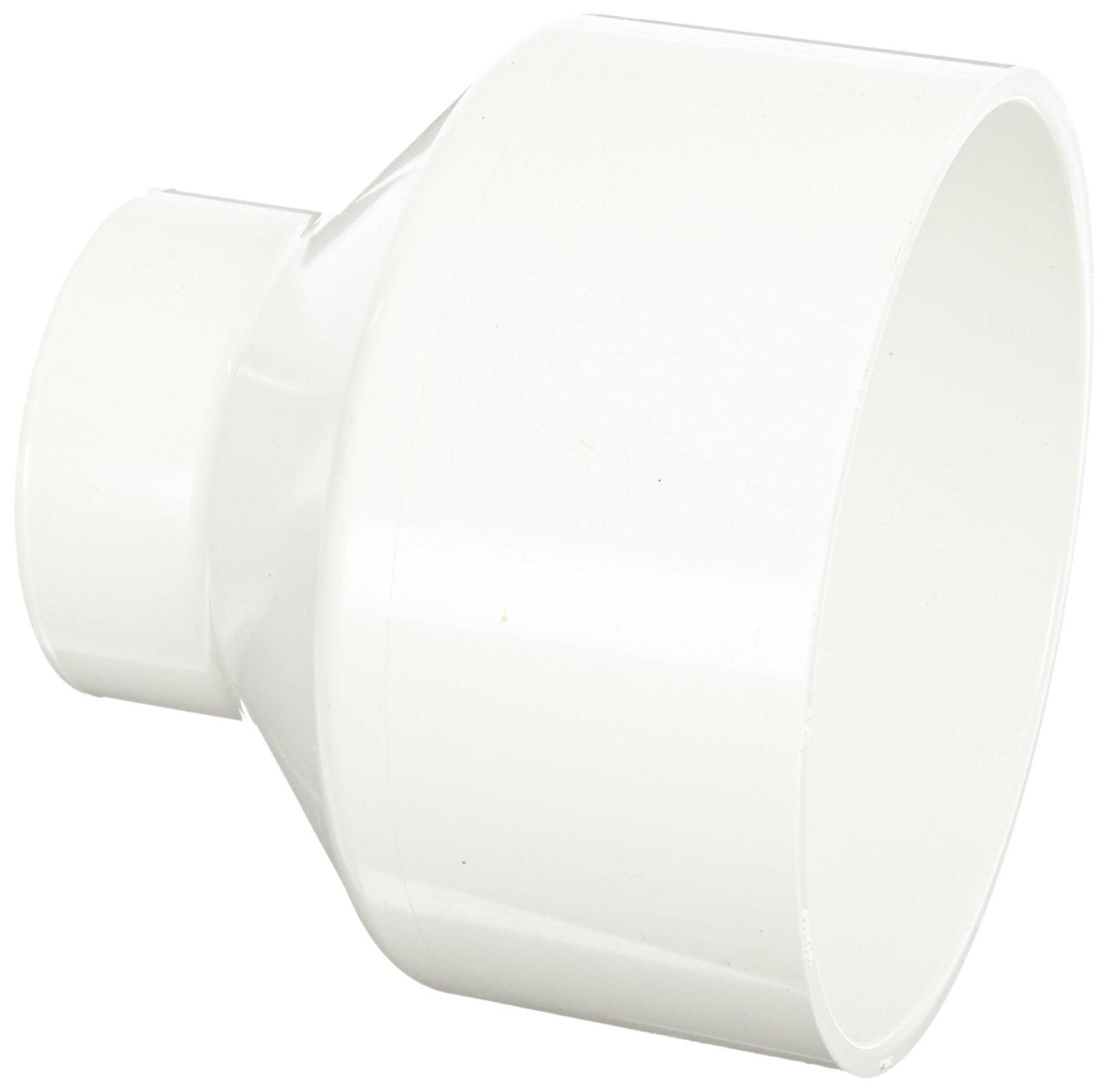 Spears P102 Series PVC DWV Pipe Fitting, Reducing Coupling, 8'' x 4'' Hub