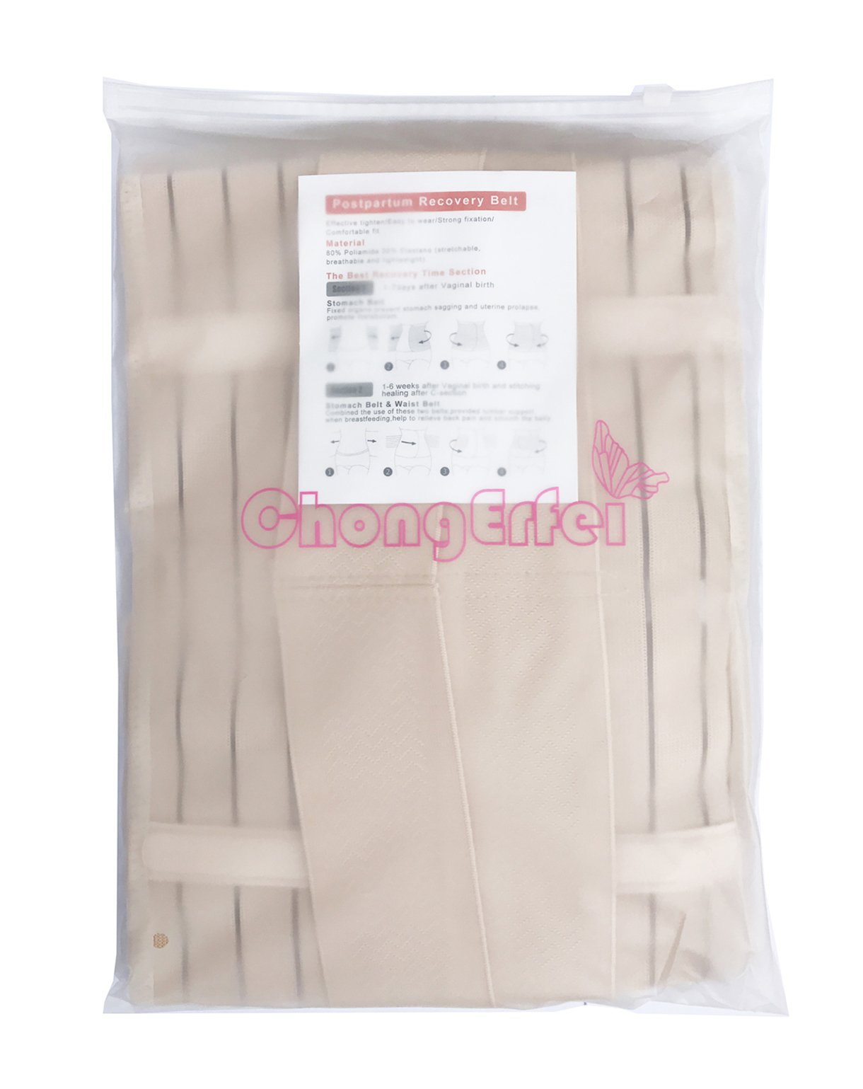 3 in 1 Postpartum Support - Recovery Belly/waist/pelvis Belt Shapewear Slimming Girdle, Beige, One Size by Chongerfei (Image #7)