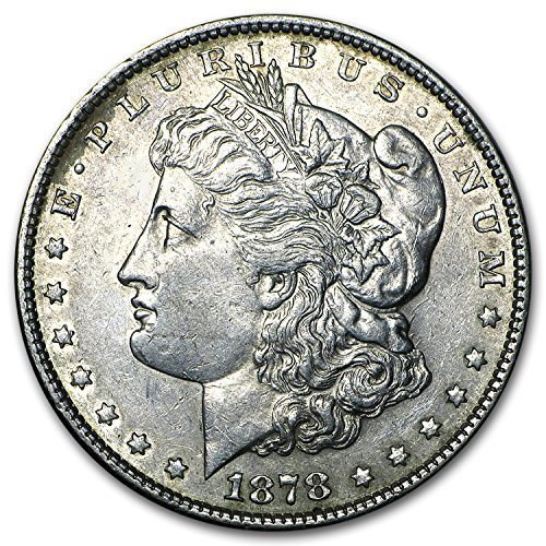 (1878 Morgan Dollar 7 Tailfeathers Rev of 79 XF $1 Extremely Fine)