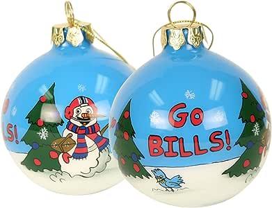 Amazon.com : Blown Glass Hand Painted Sports Christmas ...
