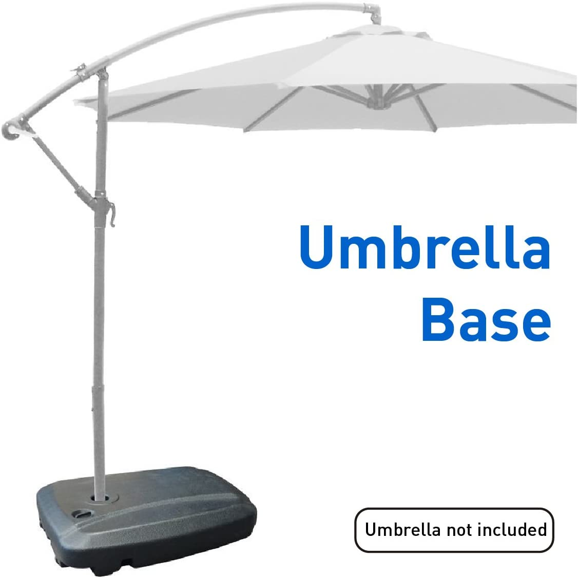 EasyGoProducts EGP-BASE-003 Universal Offset Umbrella Base Weight Capacity-Plasti, Black