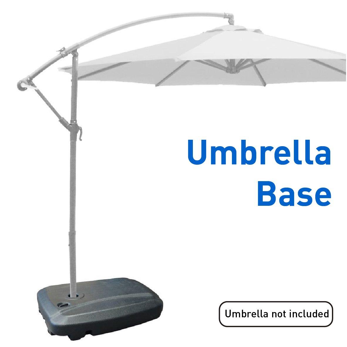 EasyGoProducts EGP-BASE-003 Universal Offset Umbrella Base Weight Capacity-Plasti, Black