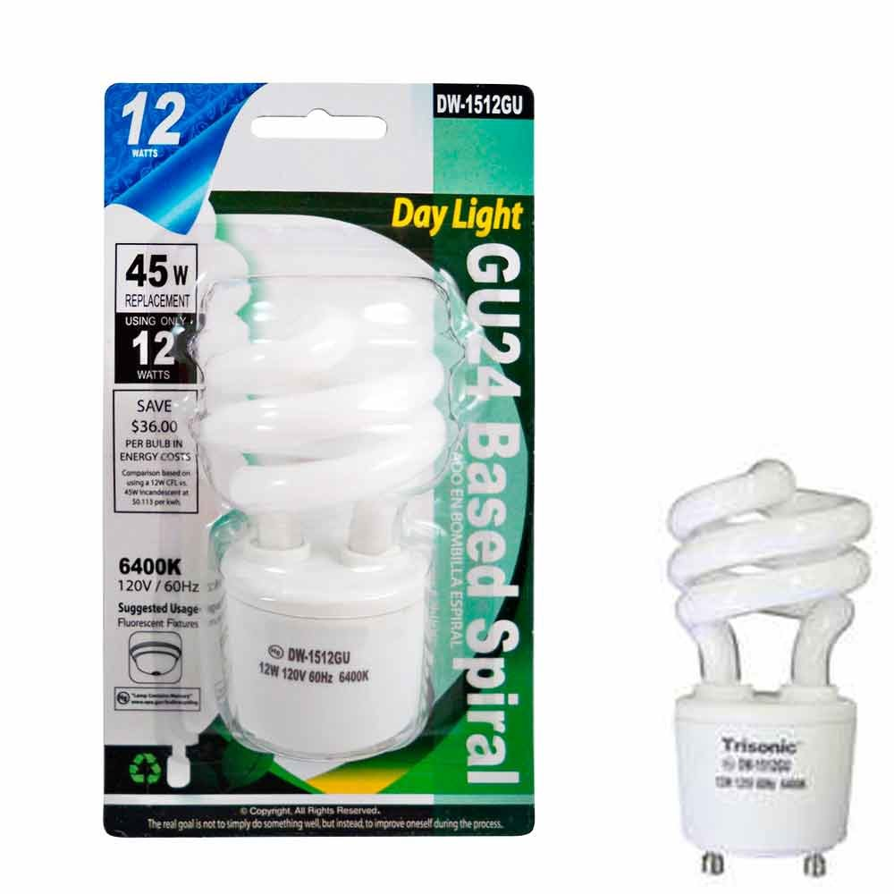 Amazon.com: 12pc Daylight Mini Bulb Light 12W Energy 45 Watt Output Spiral White Fluorescent: Office Products