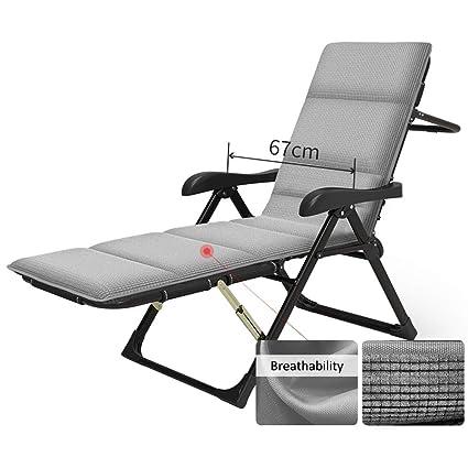 Amazon.com: MEIDUO Tumbona plegable reclinable de jardín con ...