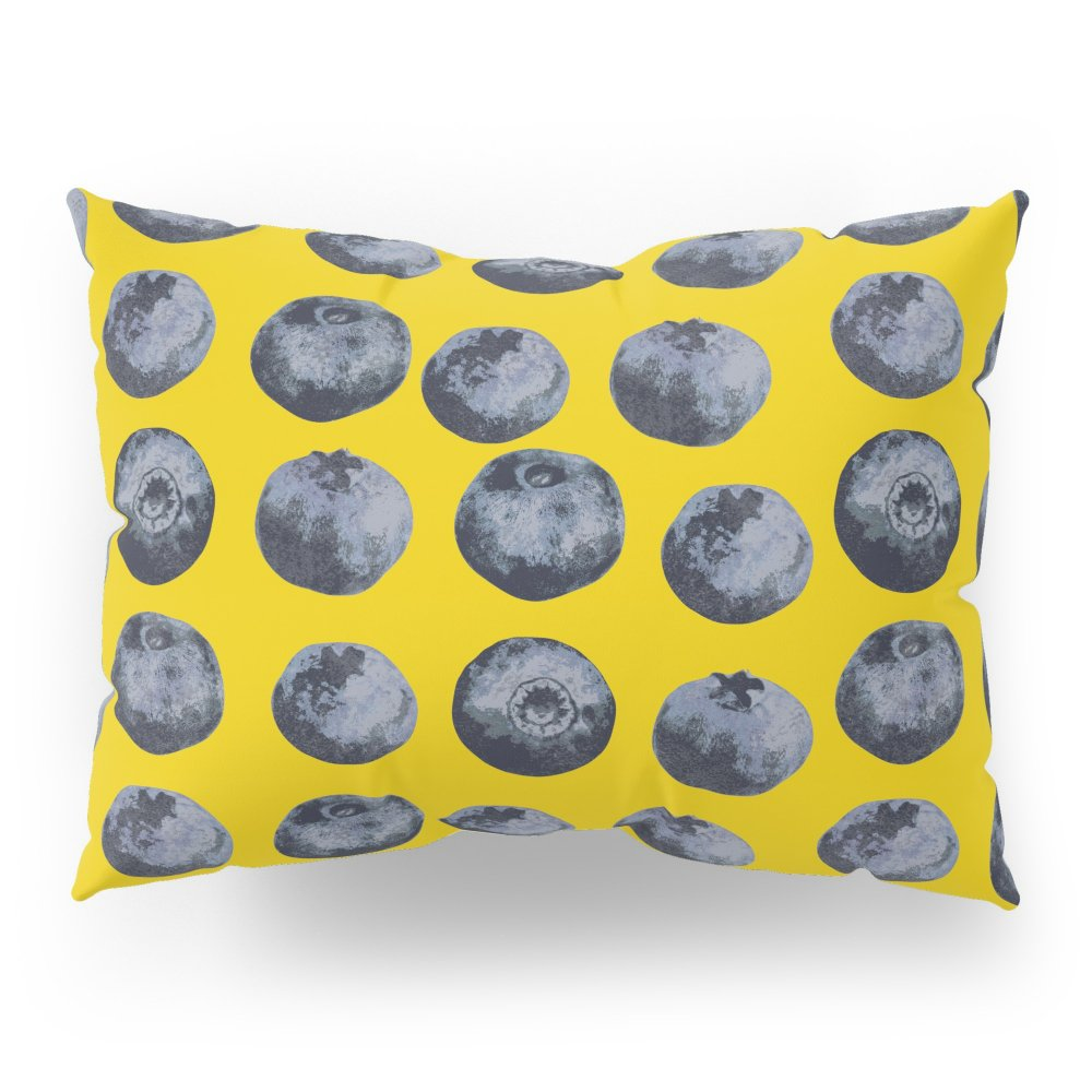 Society6 Blueberry Pattern Pillow Sham Standard (20'' x 26'') Set of 2