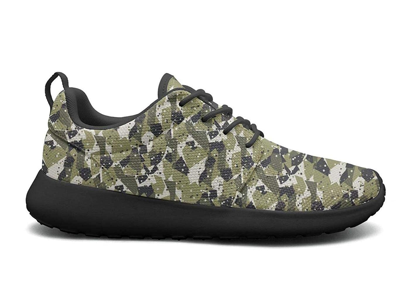 Wuixkas Camo Camouflage Geometric Womens Lightweight Mesh Sneakers Comfortable Boat Shoes