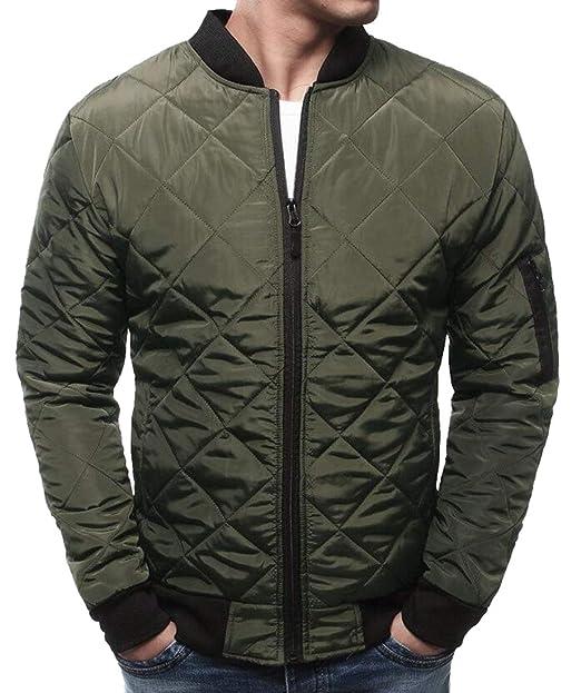 7bab5ecdfa5 Alion Men's Classic Jacket Basic Style Zip Up Long Sleeves ...