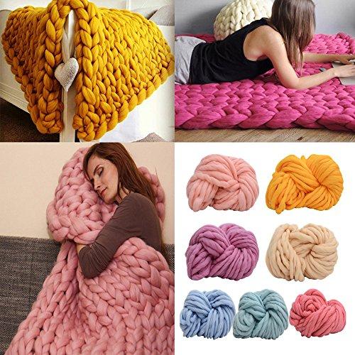 Super Soft Sock Yarn (Amiley Wool Yarn , Wool Yarn Super Soft Bulky Arm Knitting Wool Roving Crocheting DIY blanket (F))