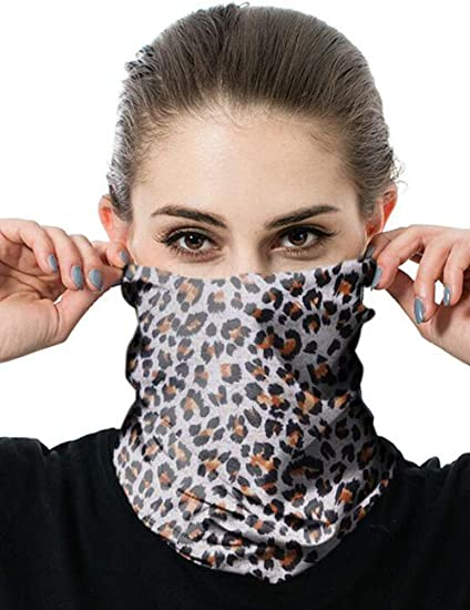 REEMONDE Balaclava Bandana Earloops Triangle Face Bandanas for Men Breathable Neck Gaiters for Outdoor Sports