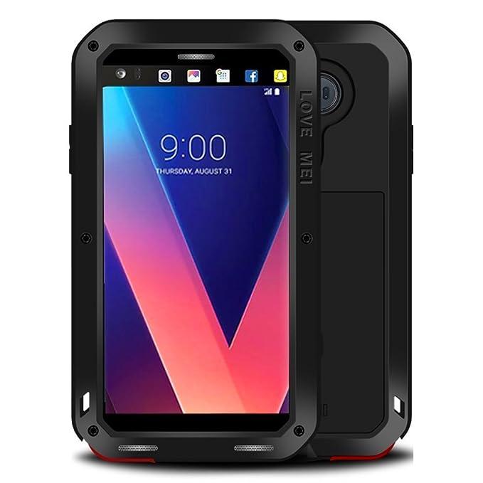 on sale 65da6 35be7 LG V30 V35 Waterproof Case, Hwota Shockproof Waterproof Dust/Dirt/Snow  Proof Aluminum Metal Case Heavy Duty Protection Case Cover for LG V30 V35  ...