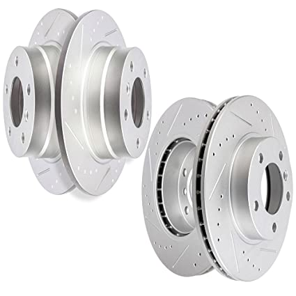 Brakes Rotors SCITOO Drilled Slotted Front Rear Discs Brake Kit Fit 93 94 95