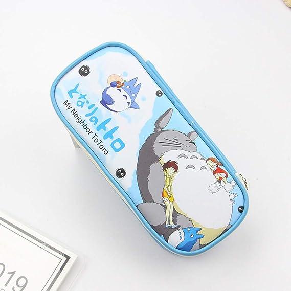 ulofpc Lindo Estilo de Dibujos Animados Mi Vecino Totoro Bolso de la Lápiz Estuche de Lápiz Cosmético Maquillaje Bolsa Bolsa Papelería Escritura ...