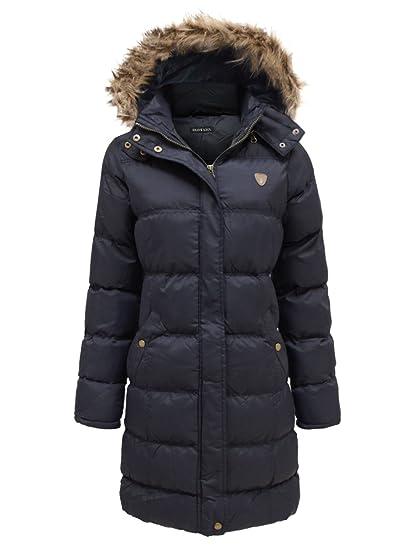 94e79abba shelikes Unisex Kids Winter Padded Parka School Coat Thick Hooded ...