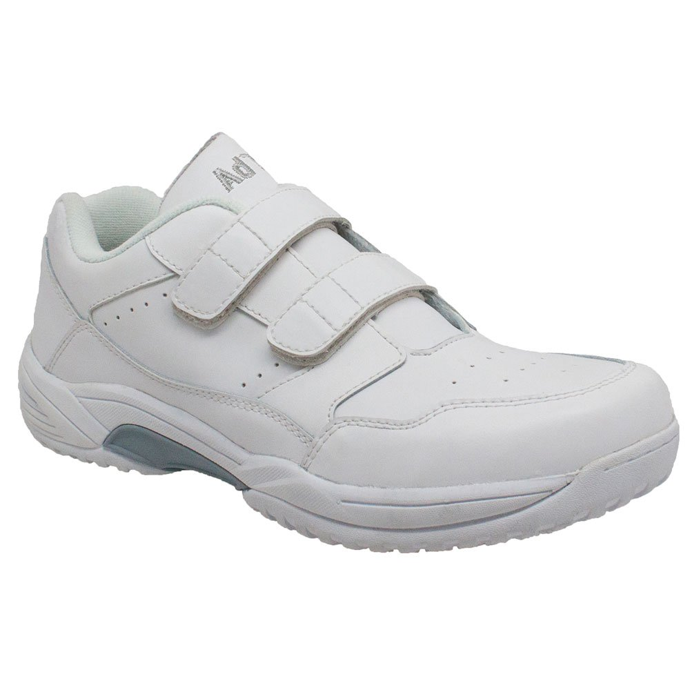 Adtec Men's Uniform Athletic Velcro Shoes, White, 11 M US