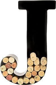 Wine Cork Holder - Metal Monogram Letter (J)