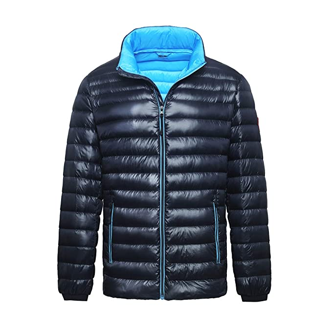 Rokka&Rolla Mens Ultra Lightweight Packable Puffer Down Jacket
