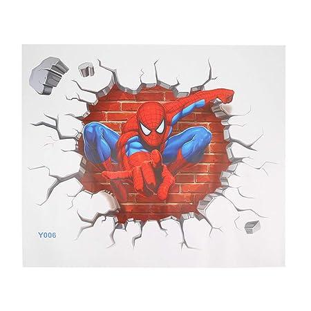 Tellaboull for Spiderman 3D Pegatinas de Pared para niños ...