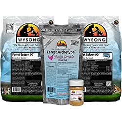 Wysong Ferret Bundle (two-5 lb. bags of Ferret Epigen 90 Digestive Support, one-7.5 oz. bag of Ferret Archetype Chicken, one-3 oz. bottle of Ferret Omega-3 Spectrum)