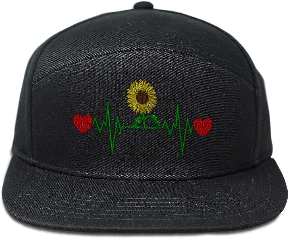Snapback Hats for Men /& Women Flower Lifeline C Embroidery Cotton Snapback Black