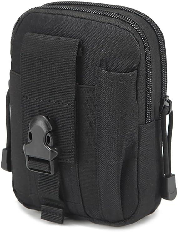 Handy Black Leather Bag Digital Camera Case Vape Kit Organiser Men Women