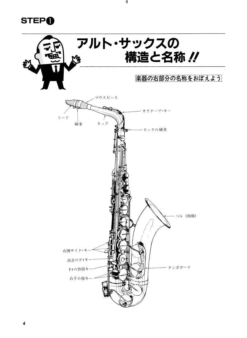 目で見てわかる やさしいアルトサックスの吹き方 楽譜 本 通販