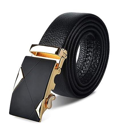 Cinturones de hombre Hebilla corrediza automática de cuero ...