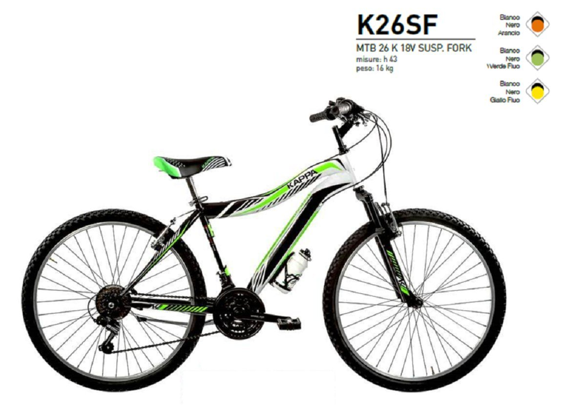 3d2eb81d2f Cicli Puzone KAPPA 26 KAPPA 18 V K26SF shock absorber bike Made in Italy:  Amazon.co.uk: Sports & Outdoors