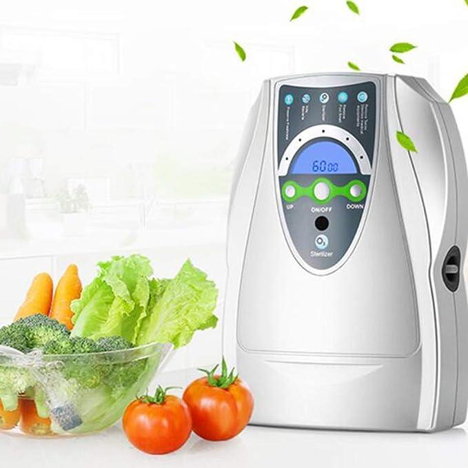 HDKIGY Generador de ozono Purificador de Aire Ozonizador para esterilizador de Agua Frutas Verduras Esterilización ...