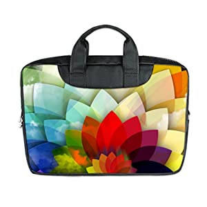INSTALL AND EASY TO CARRY Wear& Slim &Dapper Rose Flower Custom Waterproof Nylon Bag for Laptop 11 Inches(Twin sides)
