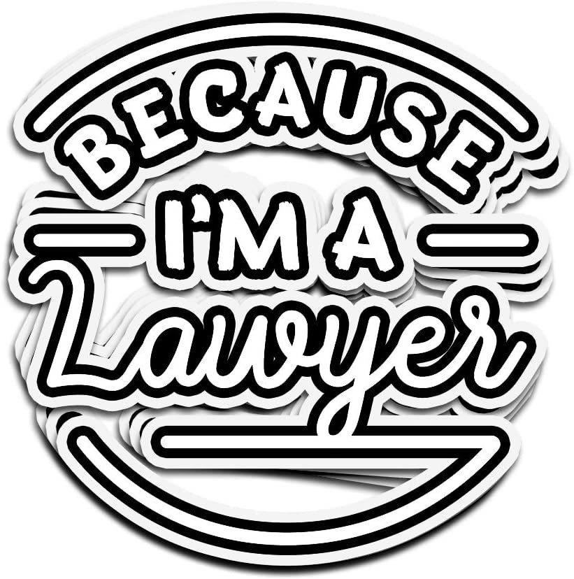 Lucky Star 3 PCs Stickers Because Im A Lawyer Legal Advice for Lawyers Counselor Attorney at Law Defender 4 × 3 Inch Die-Cut Wall Decals for Laptop Window