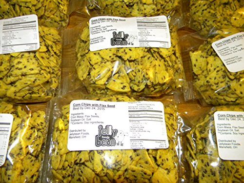 1 Lb Flax Seed - Snacks (Corn Chips with Flax Seeds, 1 Lb) By Jellybean Foods
