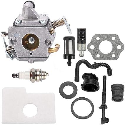 Amazon com: Kizut MS170 Carburetor with Air Filter Fuel Filter for